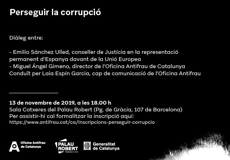 """Diàleg """"Perseguir la corrupció"""""""