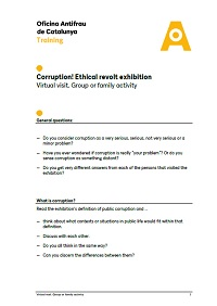 Activity to accompany the virtual visit in group or family